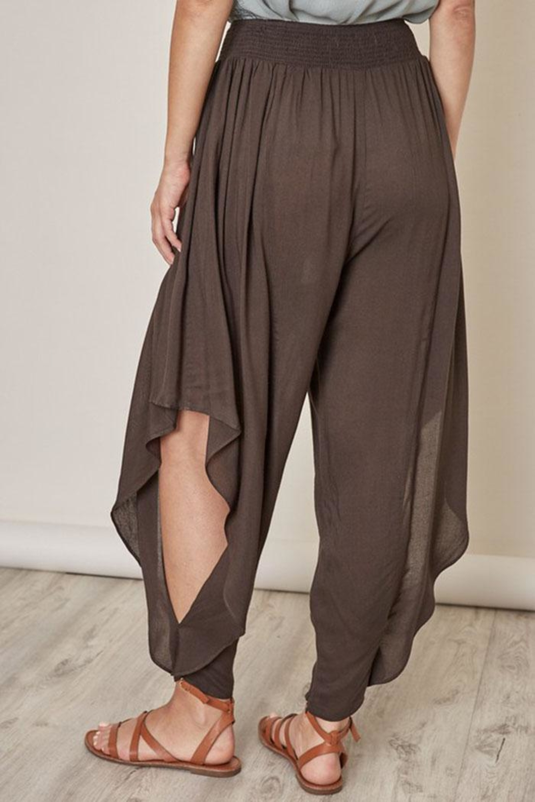 Mustard Seed Open Aladdin Pants - Side Cropped Image