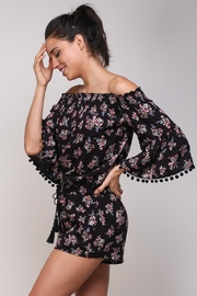 Mustard Seed Ots Floral Romper - Back cropped