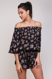 Mustard Seed Ots Floral Romper - Front cropped