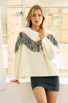 Shoptiques Product: Oversized Fringe Sweater