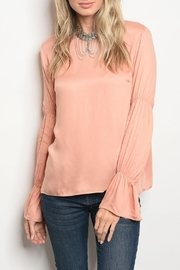 Mustard Seed Peach Bell-Cuff Top - Product Mini Image