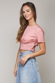 Mustard Seed Pink Shirring Top - Front full body