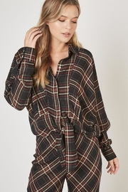 Mustard Seed Plaid Button Top - Product Mini Image