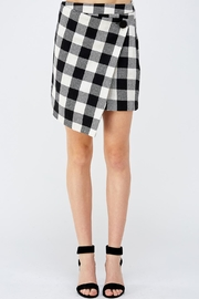 Mustard Seed Plaid Grid Skirt - Product Mini Image
