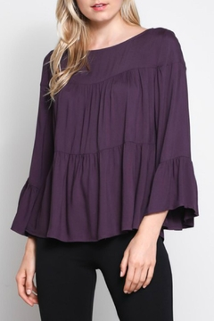 Shoptiques Product: Plum Layered Top