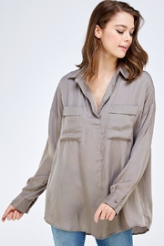 Mustard Seed Pocket Front Blouse - Product Mini Image