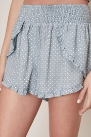 Mustard Seed Polka Dot Shorts - Back cropped