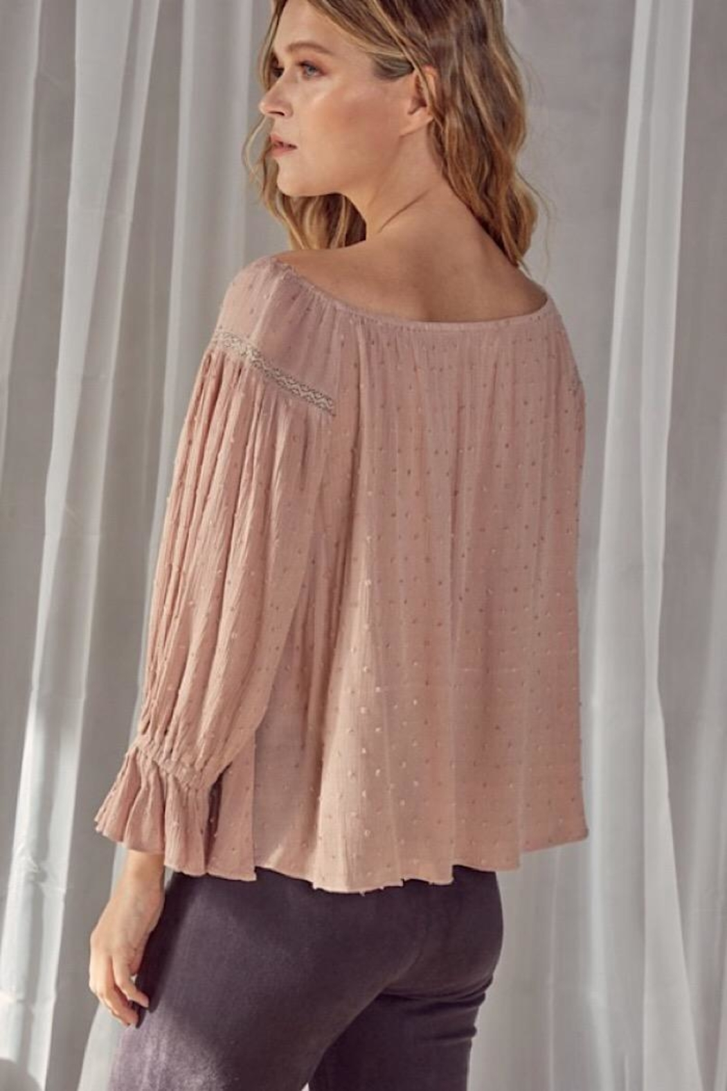 Mustard Seed Popcorn Blouse - Side Cropped Image