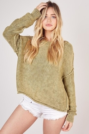 Mustard Seed Ribbed Brushed Sweater - Front full body