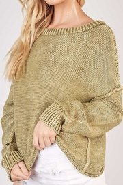 Mustard Seed Ribbed Brushed Sweater - Back cropped
