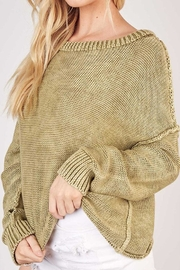 Mustard Seed Ribbed Knit Sweater - Side cropped
