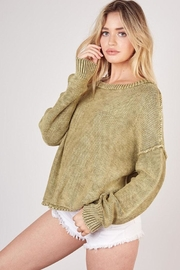 Mustard Seed Ribbed Knit Sweater - Front full body