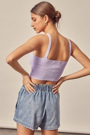 Mustard Seed Ribbed Tank Top - Side cropped
