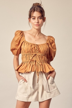 Mustard Seed Cotton Smocked Top - Product List Image
