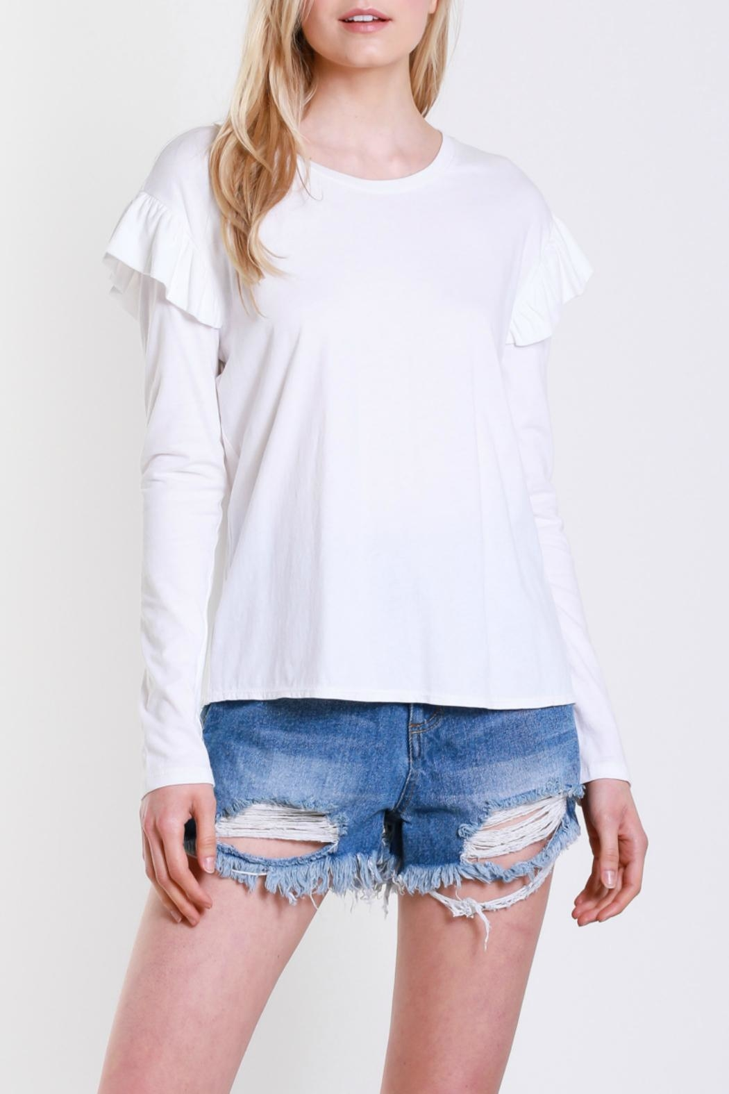 Mustard Seed Shoulder Wing Top - Front Full Image