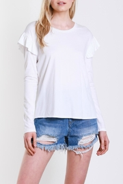 Mustard Seed Shoulder Wing Top - Front full body