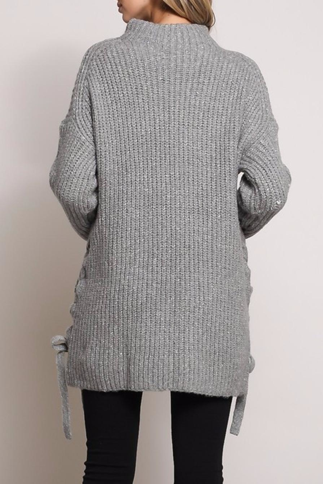 Mustard Seed Side Bow Sweater - Side Cropped Image