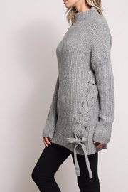 Mustard Seed Side Bow Sweater - Front full body