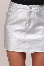Mustard Seed Silver Denim Skirt - Front full body