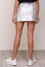 Mustard Seed Silver Denim Skirt - Side cropped