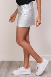 Mustard Seed Silver Denim Skirt - Back cropped