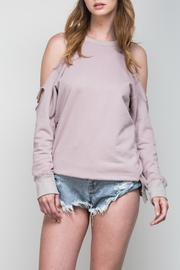 Mustard Seed Slashed Sweatshirt - Front cropped