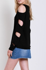 Mustard Seed Sleeve Slit Top - Front full body