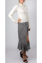 Mustard Seed Spotted Midi Skirt - Front full body
