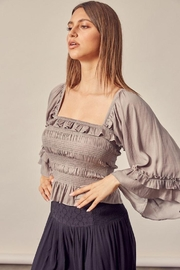 Mustard Seed Square Neck Flowy Sleeve Top - Product Mini Image