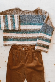 Mustard Seed Striped Box Sweater - Front cropped