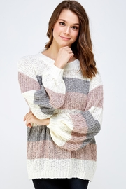 Mustard Seed Striped Knit Sweater - Product Mini Image