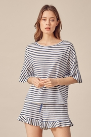 Mustard Seed Stripped Jersey Top - Product Mini Image
