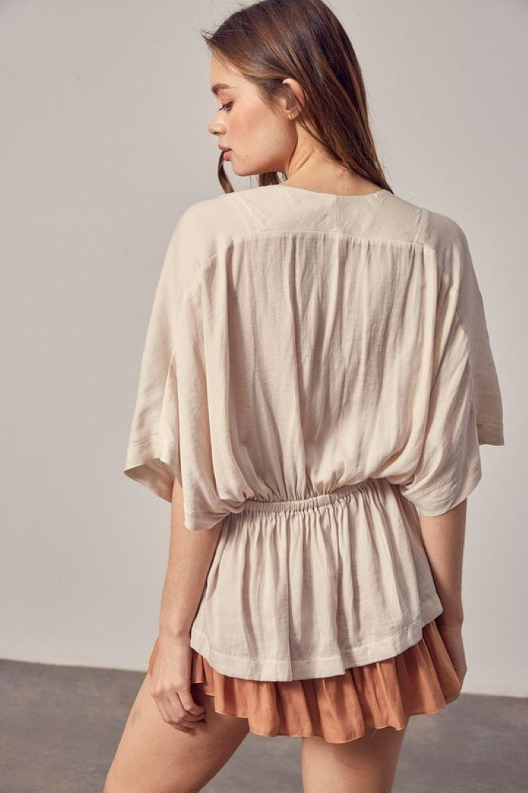 Mustard Seed Surplice High-Low Top - Front Full Image