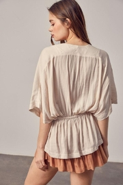 Mustard Seed Surplice High-Low Top - Front full body