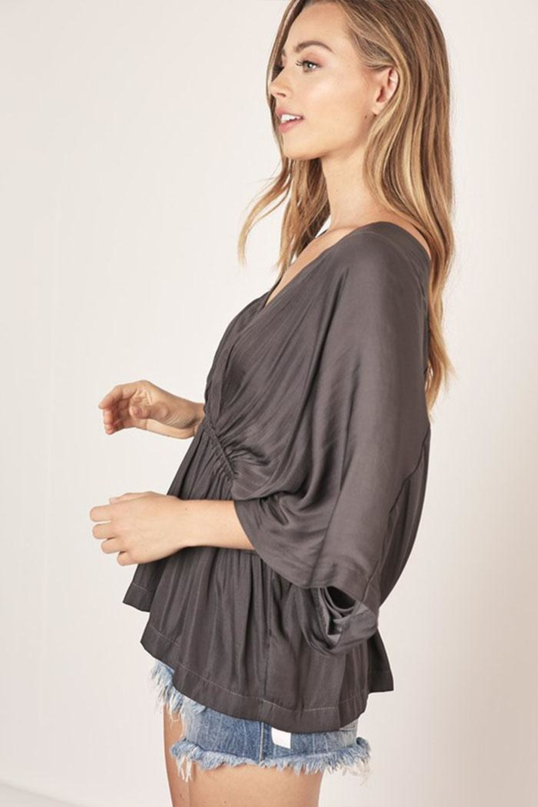 Mustard Seed Surplice V-Neck Top - Side Cropped Image