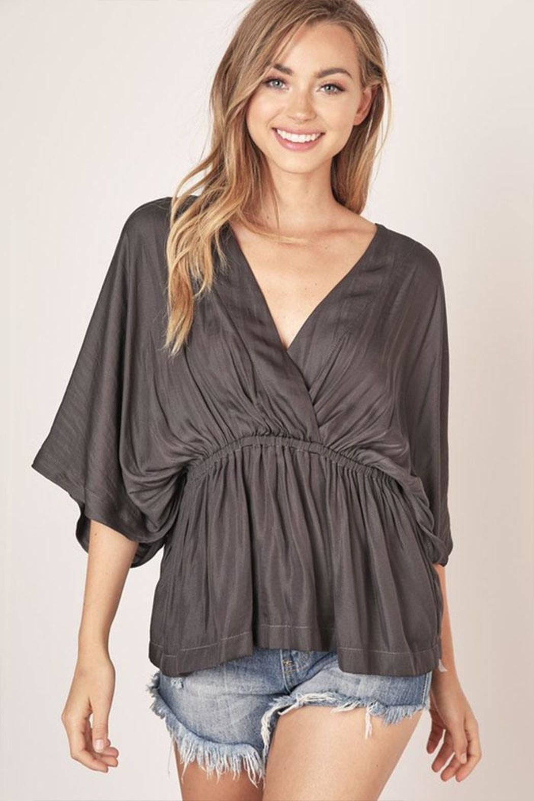 Mustard Seed Surplice V-Neck Top - Front Cropped Image
