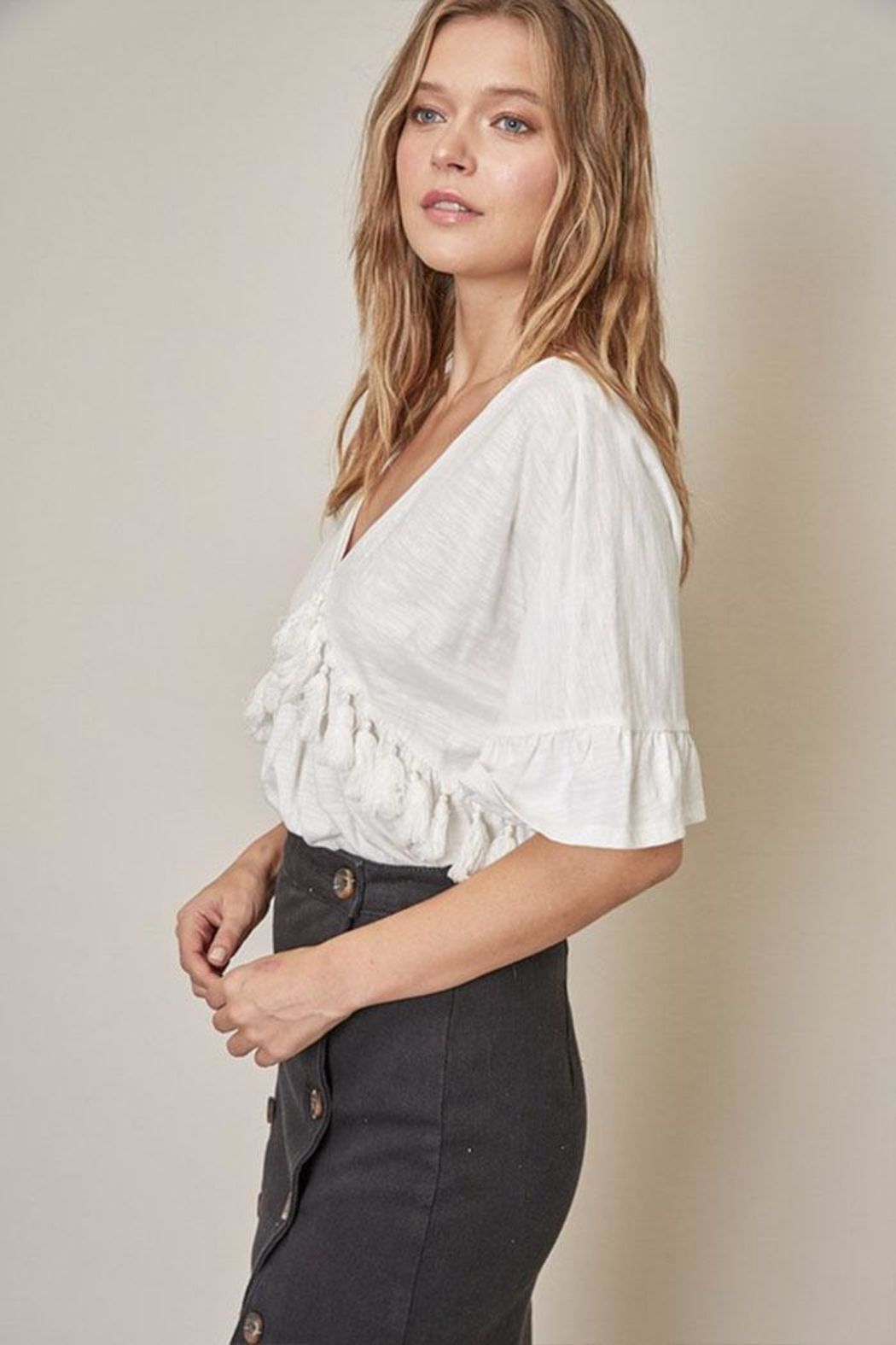 Mustard Seed Tassel Front Top - Front Full Image