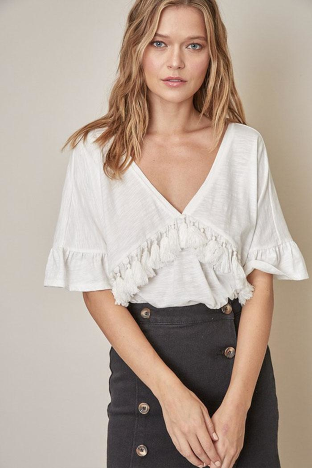 Mustard Seed Tassel Front Top - Front Cropped Image