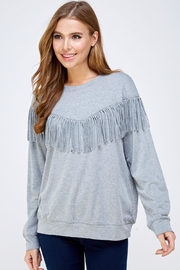 Mustard Seed Tassel Sweater Top - Product Mini Image