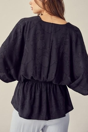 Mustard Seed Textured Floral-Detail Kimono-Top - Other