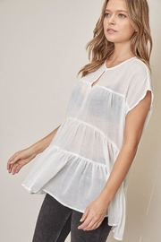 Mustard Seed Tiered Short-Sleeve Top - Front full body