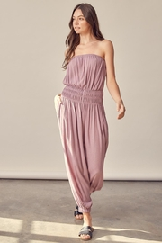 Mustard Seed Tube Top Jumpsuit - Front cropped