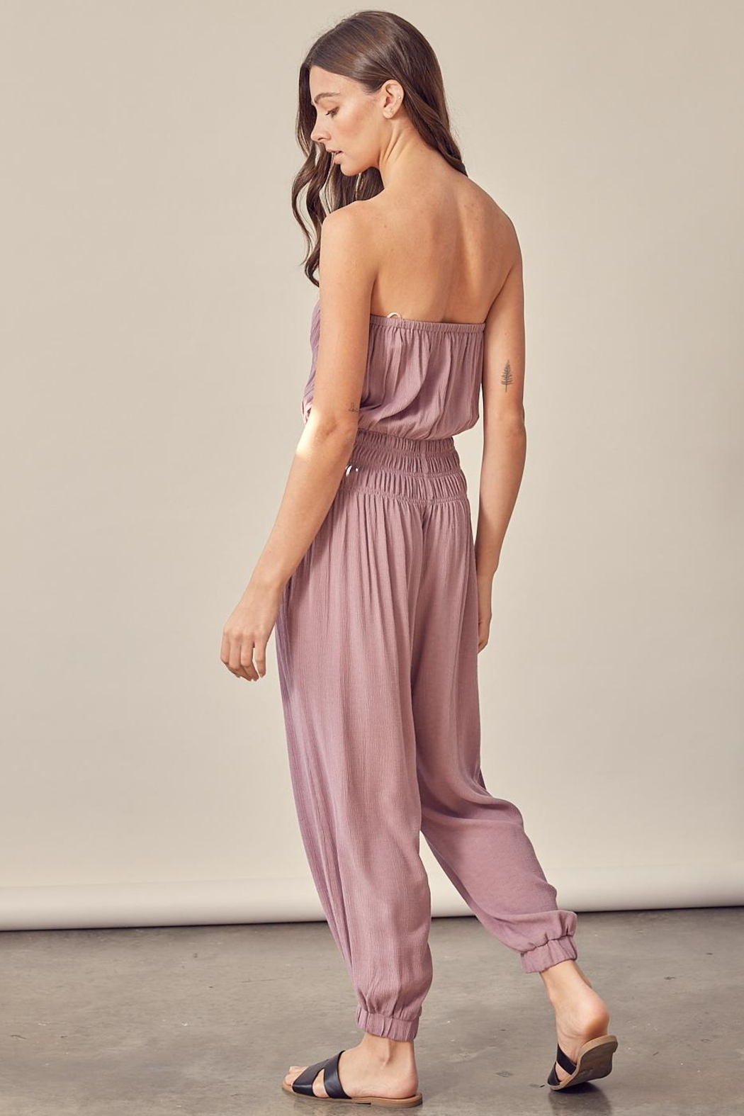 Mustard Seed Tube Top Jumpsuit - Side Cropped Image