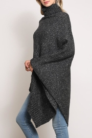 Mustard Seed Turtleneck Poncho Sweater - Front full body