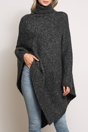 Mustard Seed Turtleneck Poncho Sweater - Product Mini Image