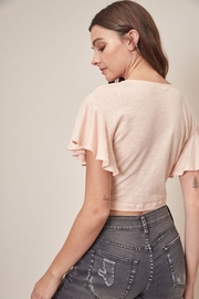 Mustard Seed Twist Front Top - Side cropped