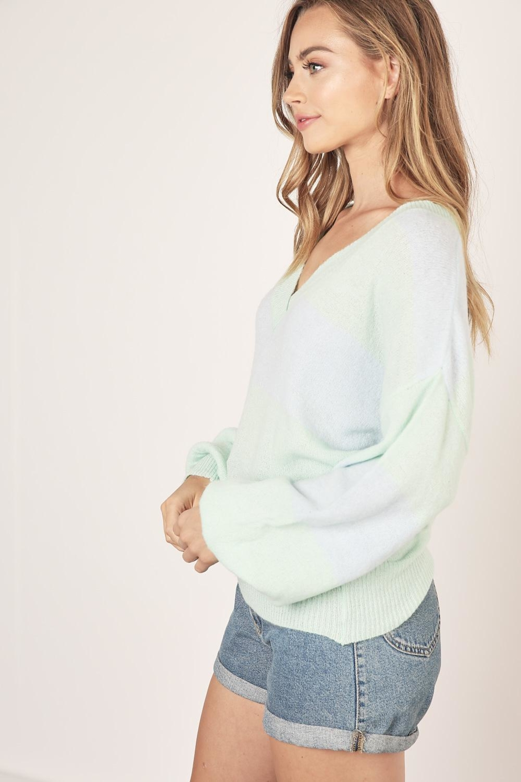 Mustard Seed Two Tone Sweater - Front Full Image