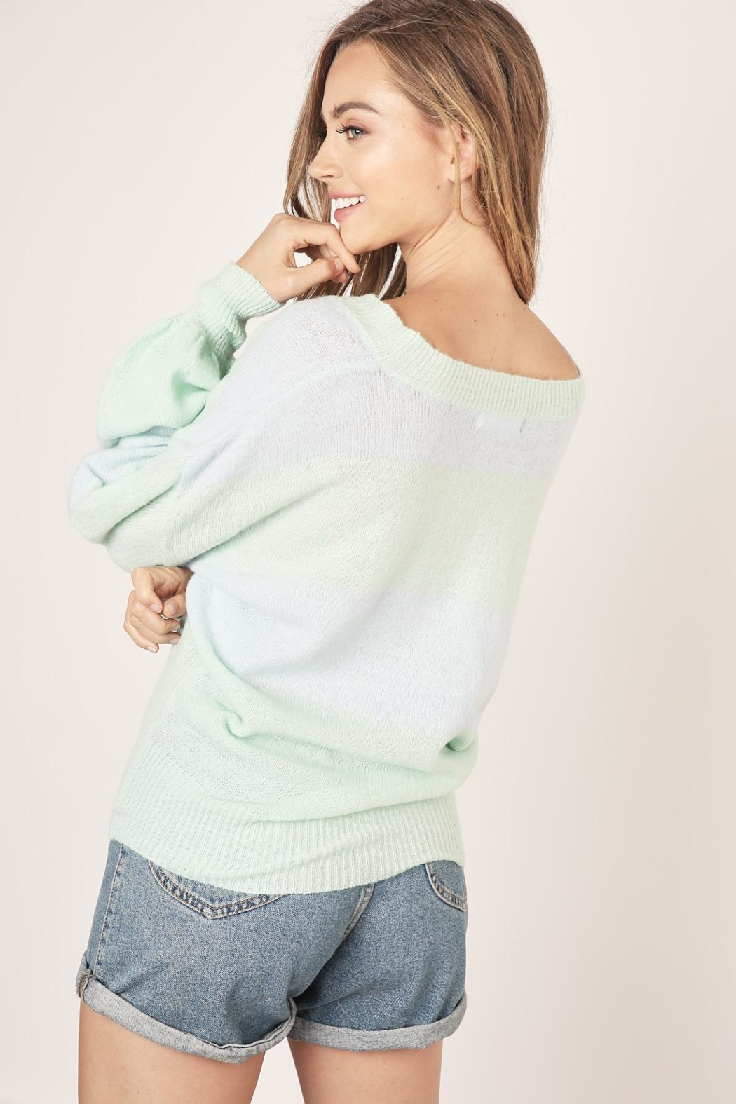 Mustard Seed Two Tone Sweater - Side Cropped Image