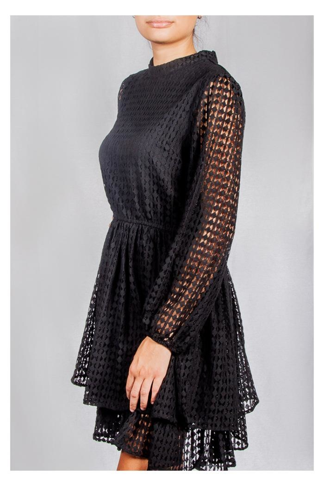 Mustard Seed Vintage Lace Dress - Side Cropped Image