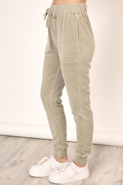 Mustard Seed Washed Velour Sweatpants - Front full body